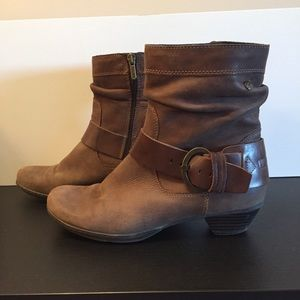 Pikolino Brown Leather Strap & Buckle Booties
